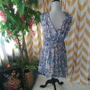 Anthropologie Dresses - Anthropologie Weston size M purple floral dress